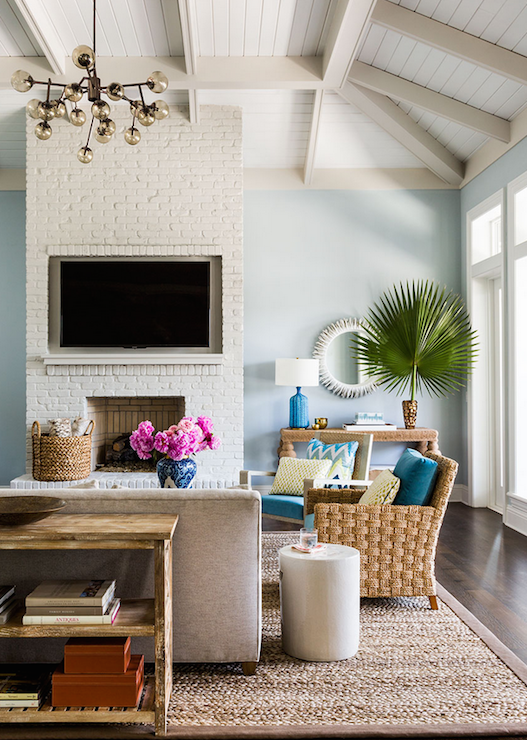 Interior Design Fireplace Living Room: TV Niche In Fireplace