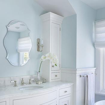 Curved sink vanity transitional bathroom mark for Roberts designs bathroom accessories