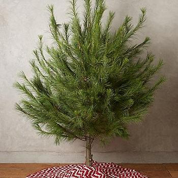 Chevron Tree Skirt I Anthropologie