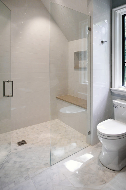 Glass Walk In Shower Ideas Transitional Bathroom Cr