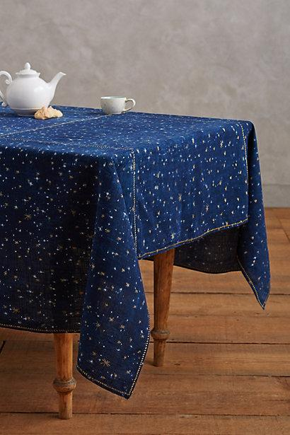 Night Sky Blue Tablecloth