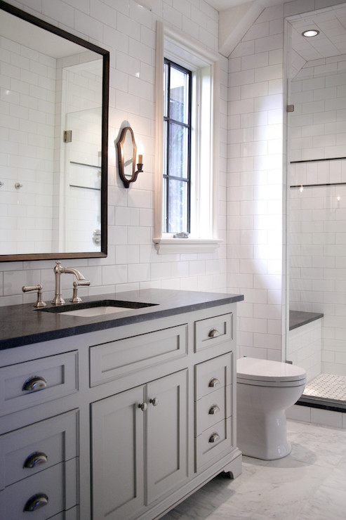 Jet mist countertop transitional bathroom cr home design - Black marble bathroom countertops ...