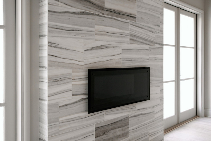 White Marble Fireplace - Design photos