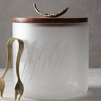 Gilded Plumes Ice Bucket I Anthropologie