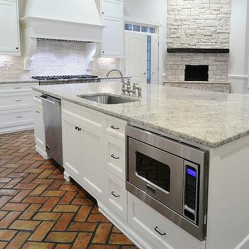Exceptional Kitchen With Brick Floor