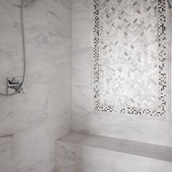 Shower With Carrera Marble