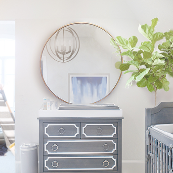 Gray Nursery Dresser, Transitional, Nursery, Ivory Lane