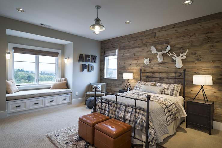 Cabin Style Kids Room Country Boy S Room Ttm Development