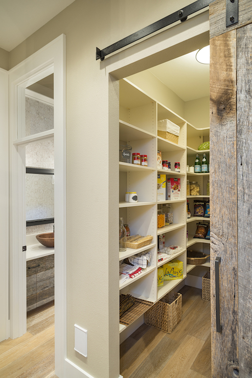 Pantry With Barn Door Transitional Kitchen Ttm