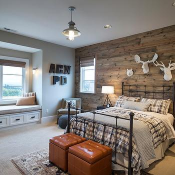 Rustic Bedroom Paint Ideas Accent Wall