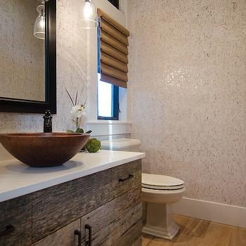 Candice Olson Cork Wallpaper, Country, Bathroom, TTM Development
