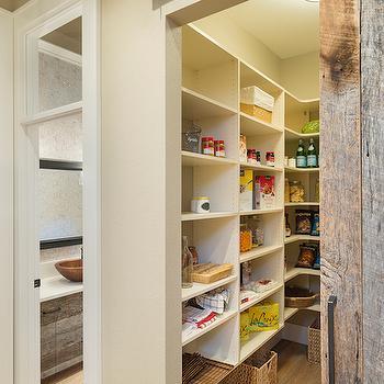 Pantry with Barn Door, Transitional, Kitchen, TTM Development
