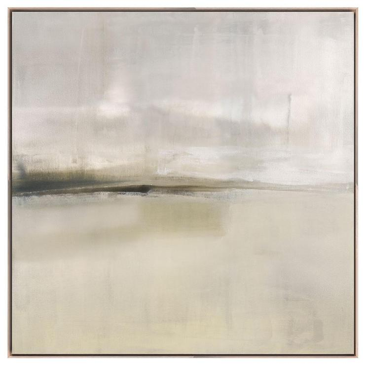 Haze II Framed Stretched Canvas Grey Art