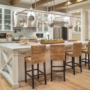 Seagrass Counter Stools, Transitional, Kitchen, Benjamin Moore Maritime White, TTM Development