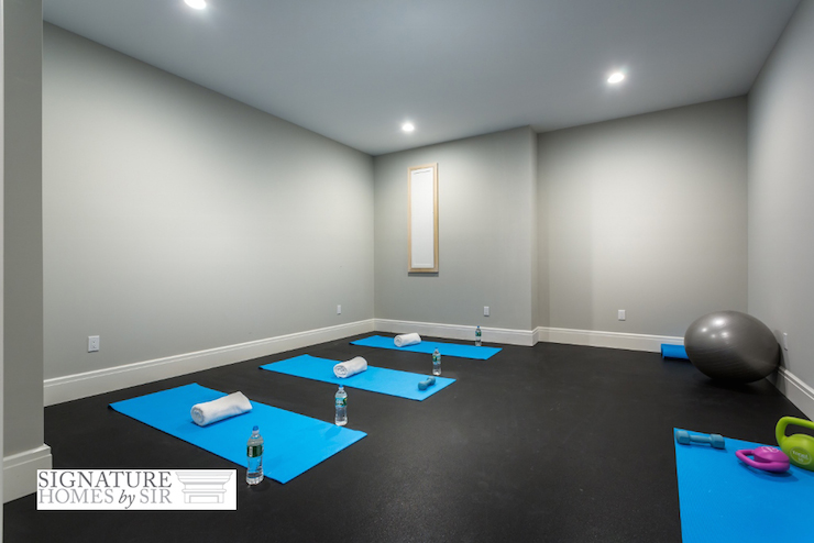 Yoga Wall Light : Basement Gym - Transitional - basement - House & Home