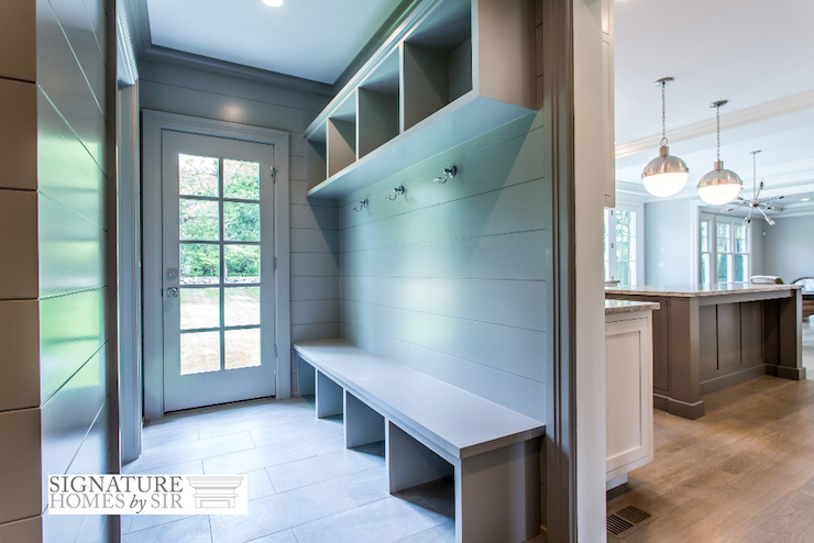 Mudroom Next To Kitchen Transitional Laundry Room