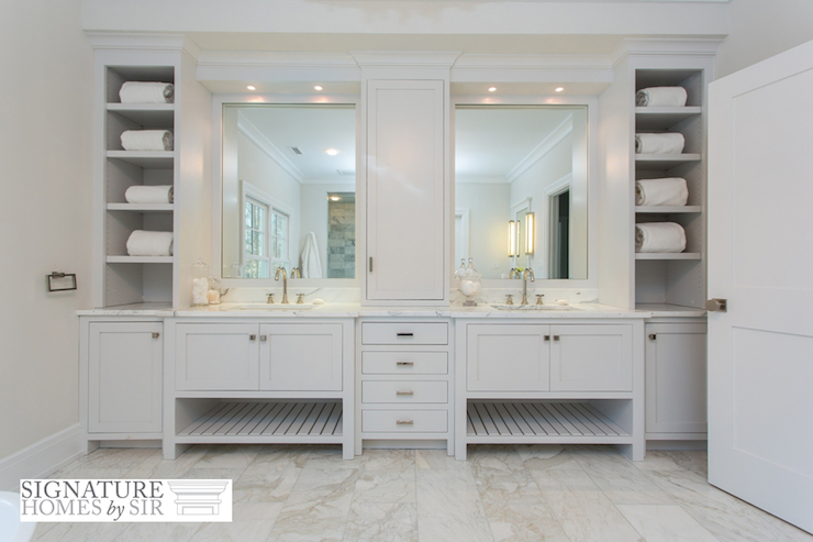 Built In Bathroom Cubbies - Traditional - Bathroom - Sir Development