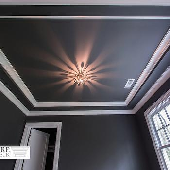 black and white ceiling - Ceiling Molding Design Ideas