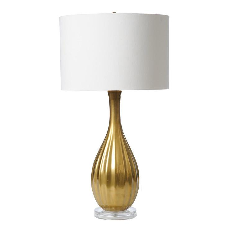 Barbara Cosgrove Pin Gold Table Lamp