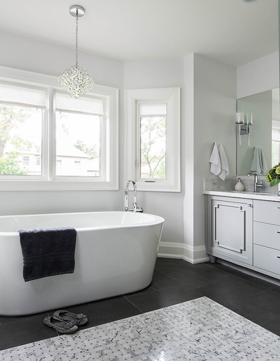 Bathroom Design Grey And White Gray And White Bathroom Ideas Transitional Bathroom Jodie Rosen