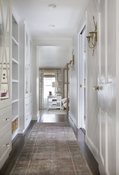 Entrances foyers wainscoted hallway design ideas Hallway to master bedroom
