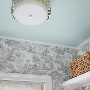 Laundry Room Chandelier, Transitional, Laundry Room, Sherwin Williams Breaktime, Erin Gates Design