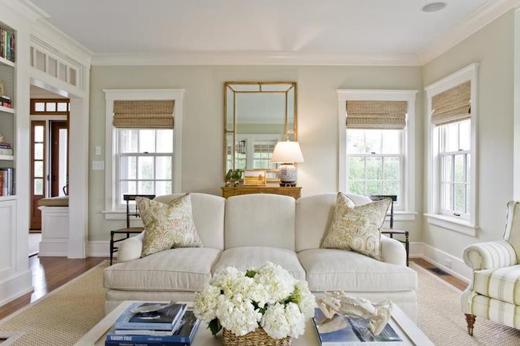 Light Jhaki Paint Colors Cottage Living Room Benjamin Moore