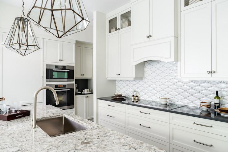 Diamond Pattern Tiles Transitional Kitchen Toronto Interior Design Group