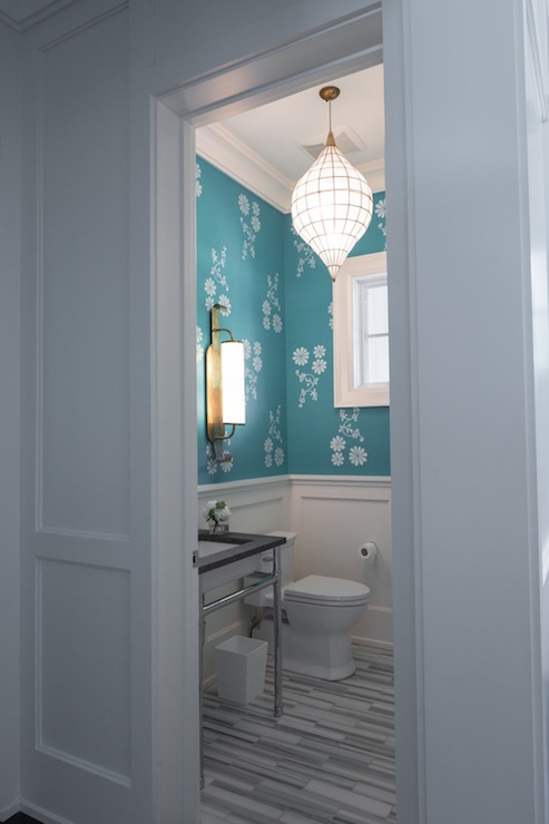 Powder Room Wainscoting Contemporary Bathroom Carole