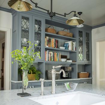 Built In Kitchen Hutch, Cottage, Kitchen, Westbrook Interiors