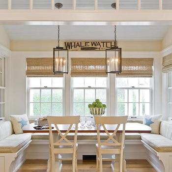 Cottage Breakfast Nook, Cottage, Kitchen, Design New England