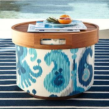 Katharine Webster Gaea Round Pouf Collection I Horchow