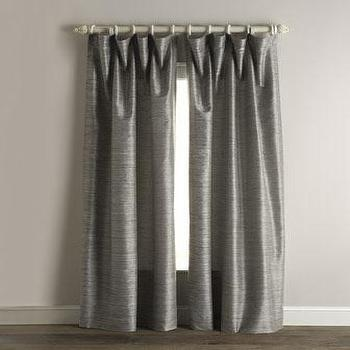 Graphite Faux Solid Taffeta Silk Drapes Amp Curtain Panels
