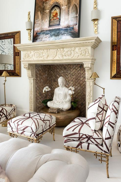 Super Kelly Wearstler Channels Fabric Eclectic Living Room Bralicious Painted Fabric Chair Ideas Braliciousco