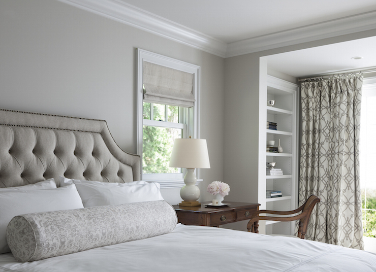 Master Bedroom Grey Walls gray traditional bedroom design ideas