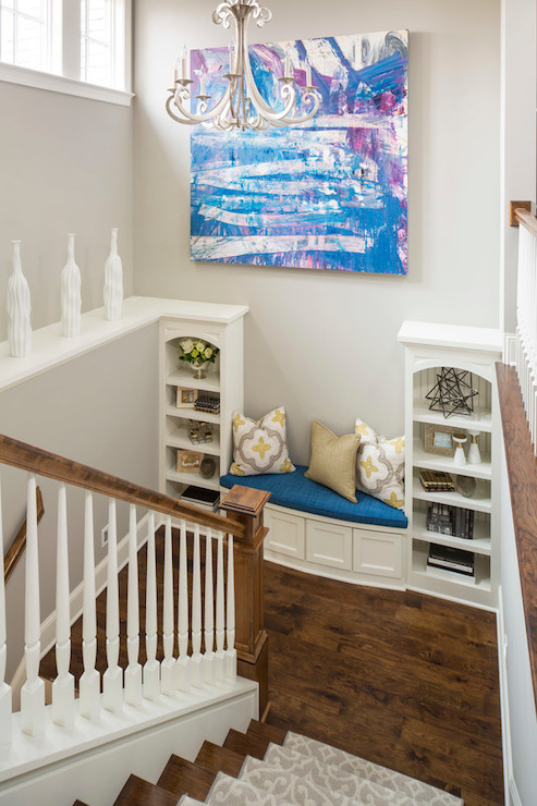 Decorating a Staircase Landing   Contemporary   Entrance foyer