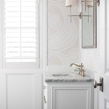Wallpaper for Bathrooms, Traditional, Bathroom, Marianne Simon Design