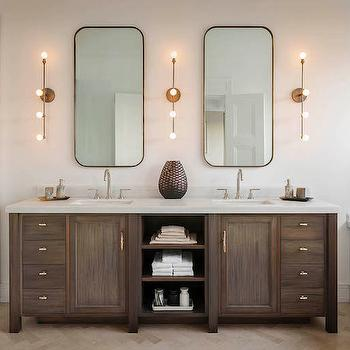Double Vanity with Center Shelves, Transitional, Bathroom, Sutro Architects