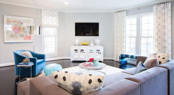 Worlds Away Crosby White Lacquer Media Console