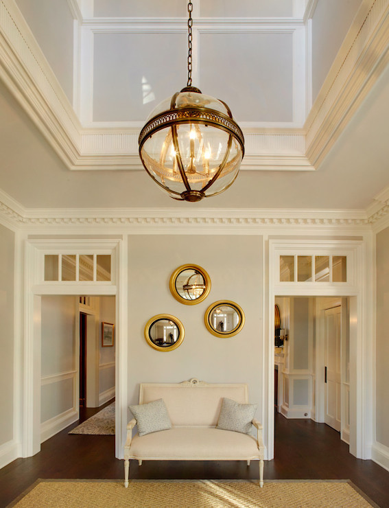 Lighting For Two Story Foyer : Foyer seating design ideas