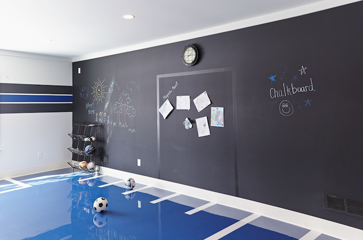 Chalk Board Paint In Toddlers Room