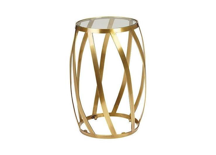 Drum Accent Table Target: Nate Berkus White Metal Accent Table