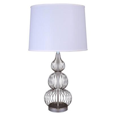 Fangio Silver Table Lamp