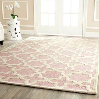 moroccan cambridge light pink wool rug