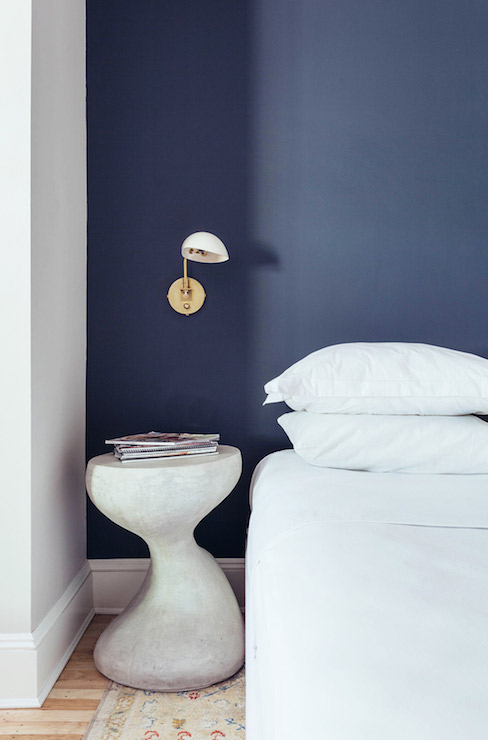 Dark Blue Accent Wall Bedroom navy blue accent wall design ideas