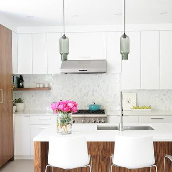 Flat Front Cabinets, Contemporary, Kitchen, Shift Interiors