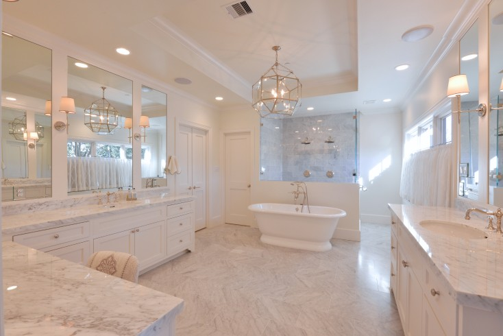 Bathtub in front of shower transitional bathroom munger interiors - Bathtub in shower ...