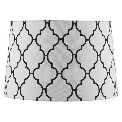 Stitched patter black and white lamp shade oversized stitched patter black and white lamp shade aloadofball Choice Image