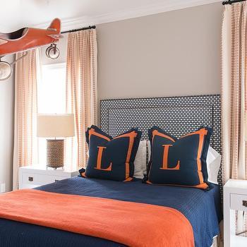 Blue and Orange Kids Room, Transitional, Boy's Room, Munger Interiors