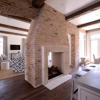 Double sided fireplace design ideas for Open sided fireplace